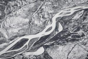 Frozen Rivers in northern British Columbia